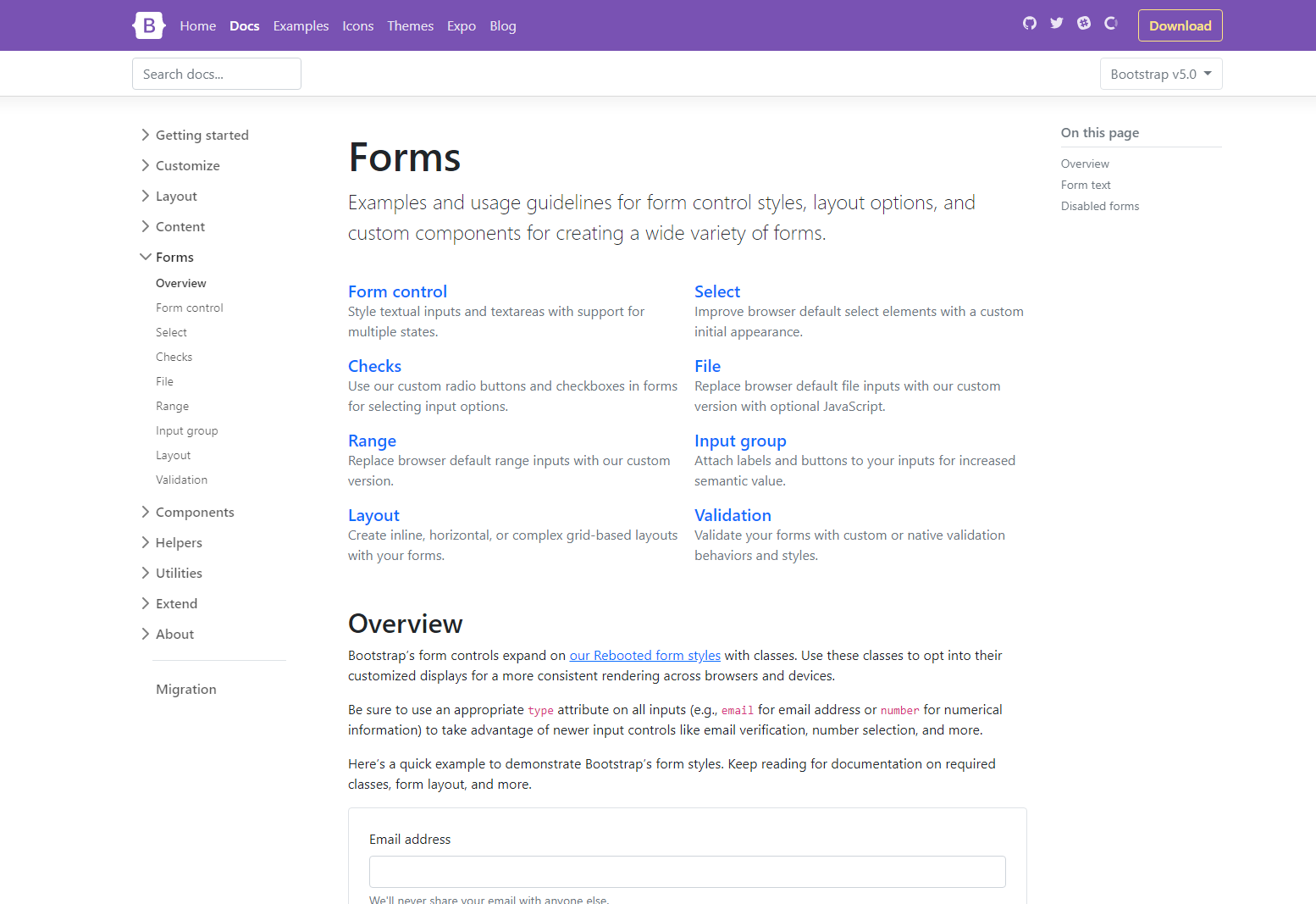 Bootstrap 5 Alpha Forms
