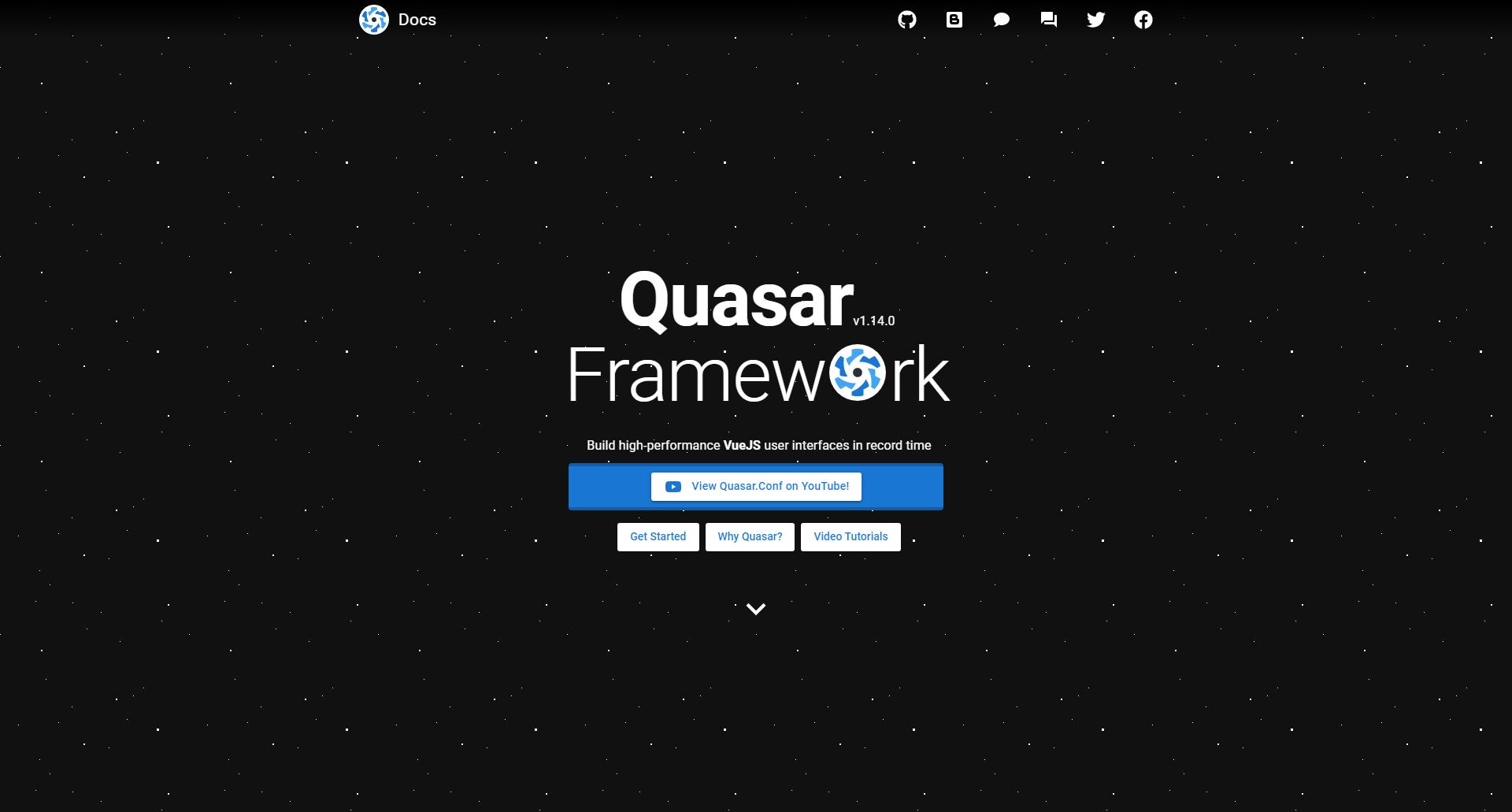 Quasar VueJS UI Component Libraries