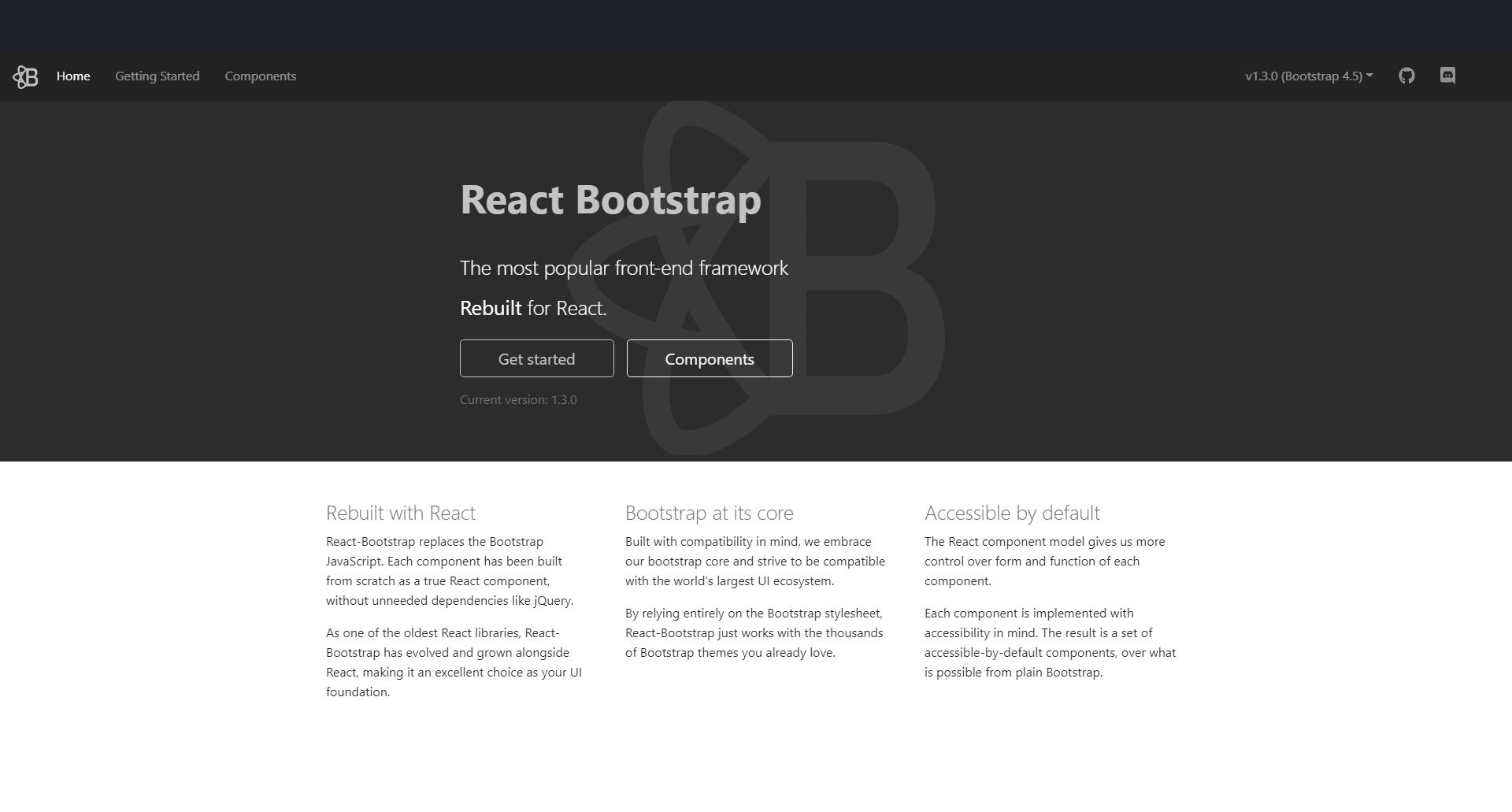 React Bootstrap ReactJS UI Frameworks