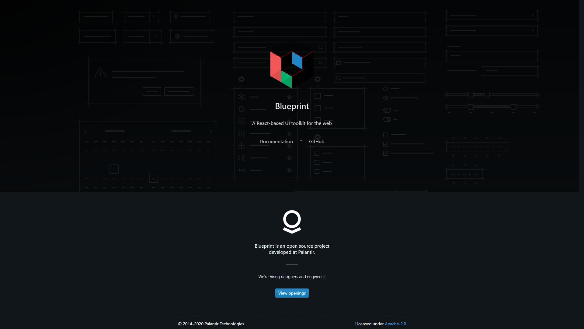 Blueprintjst ReactJS UI frameworks