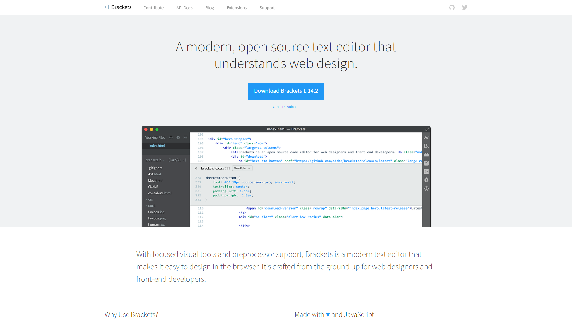 Brackets Open Source Web Development Tools
