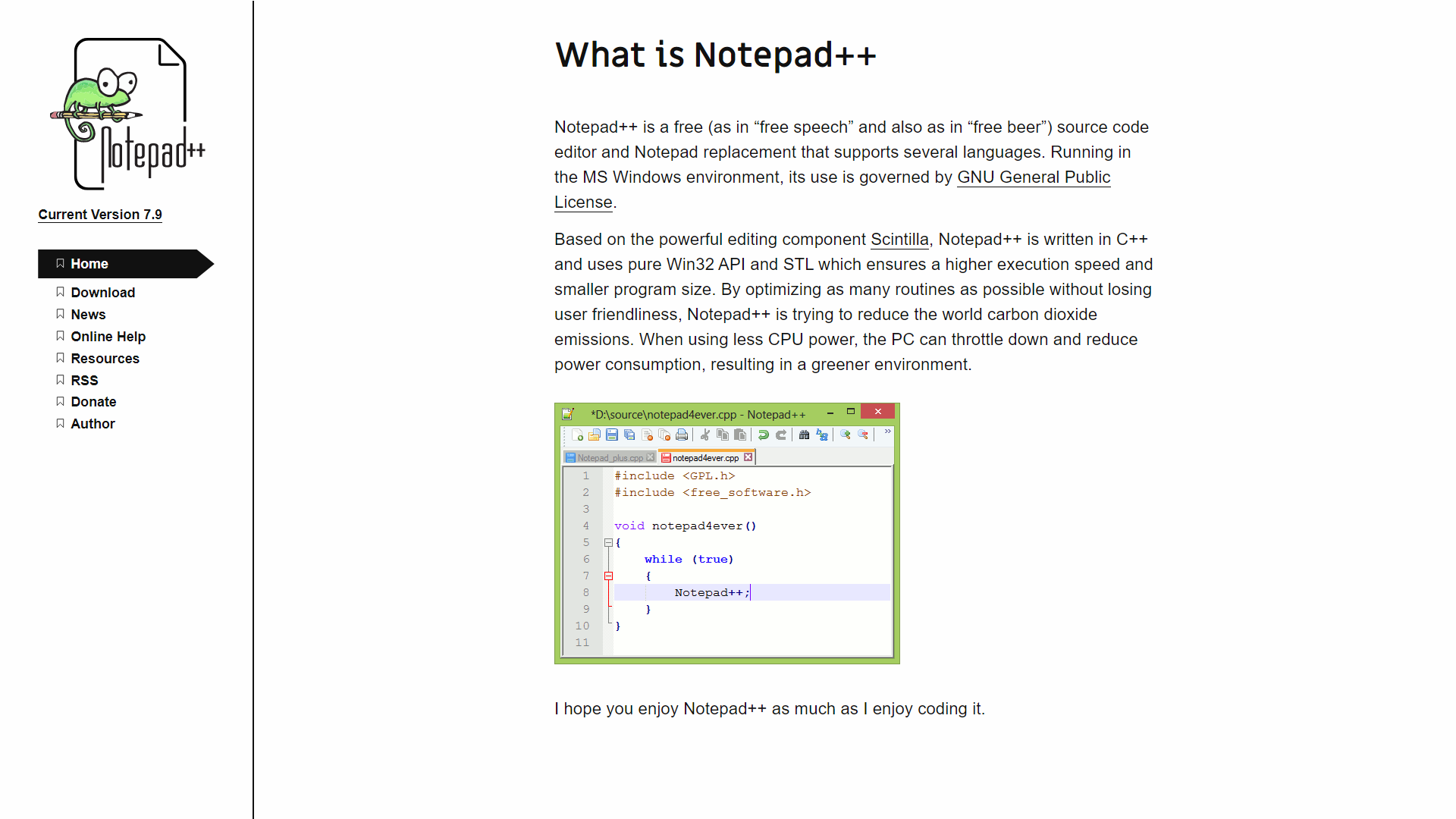 Notepade++ Open Source Web Development Tools