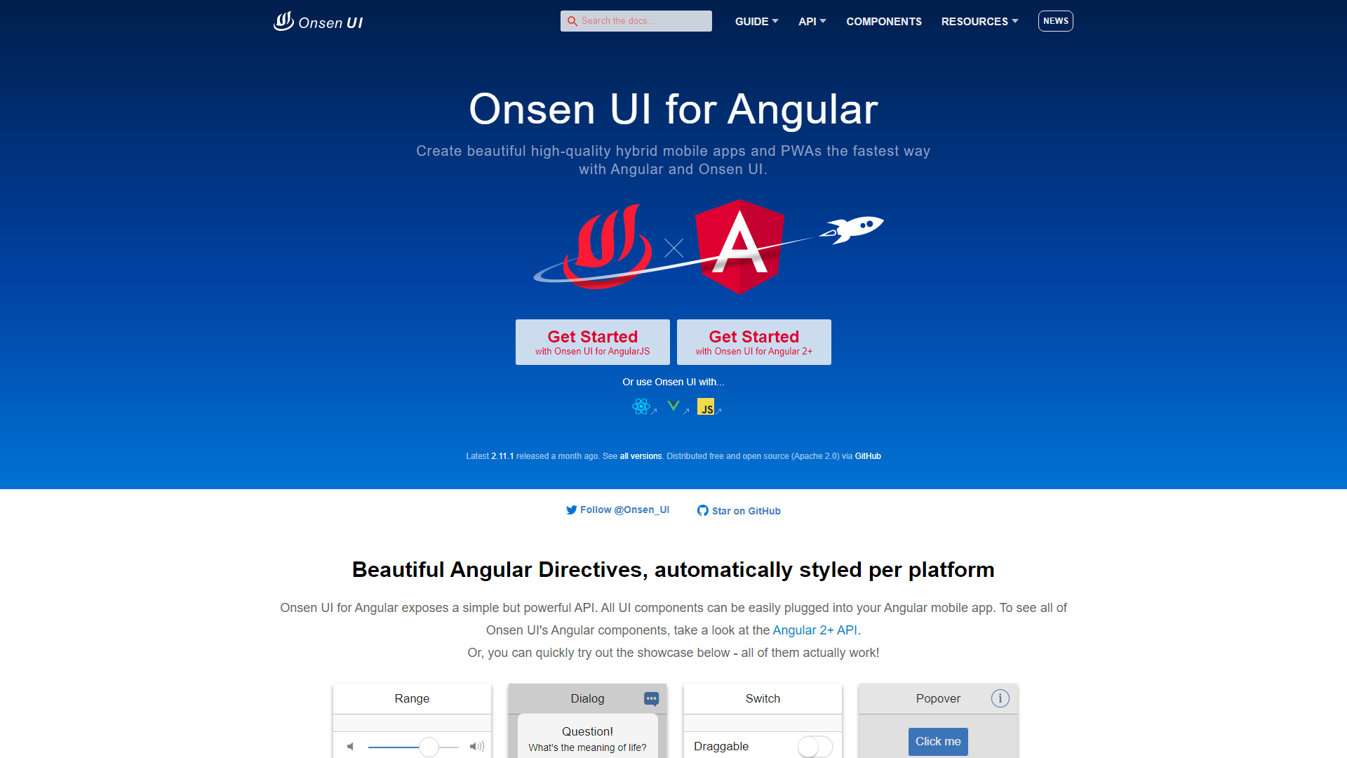 Angular UI Component Libraries
