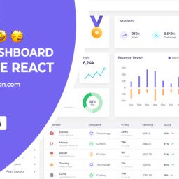 admin dashboard template react