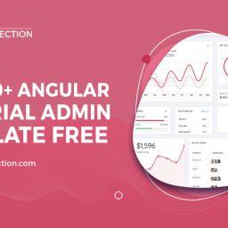 angular material admin template free