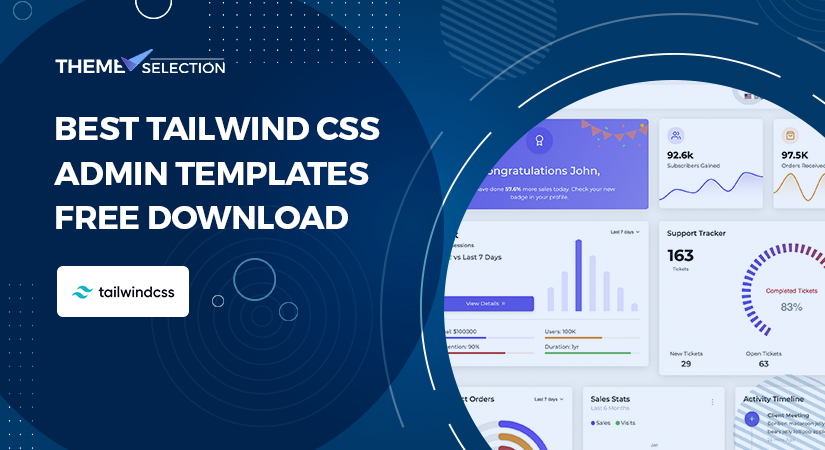tailwind css admin templates free