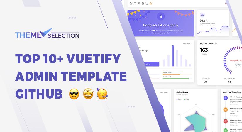 Vuetify admin template Github
