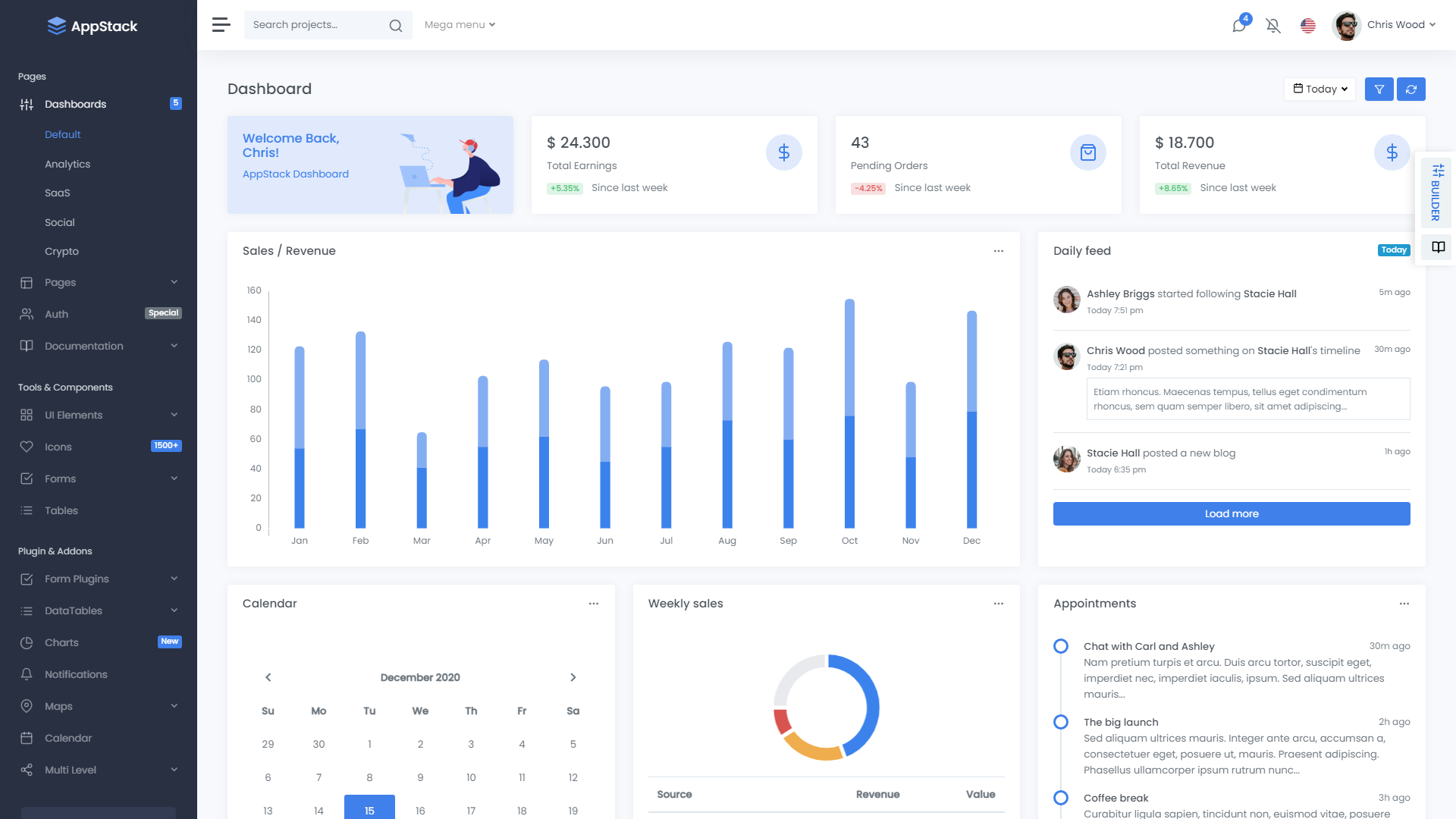 Appstack Bootstrap 5 Admin Template