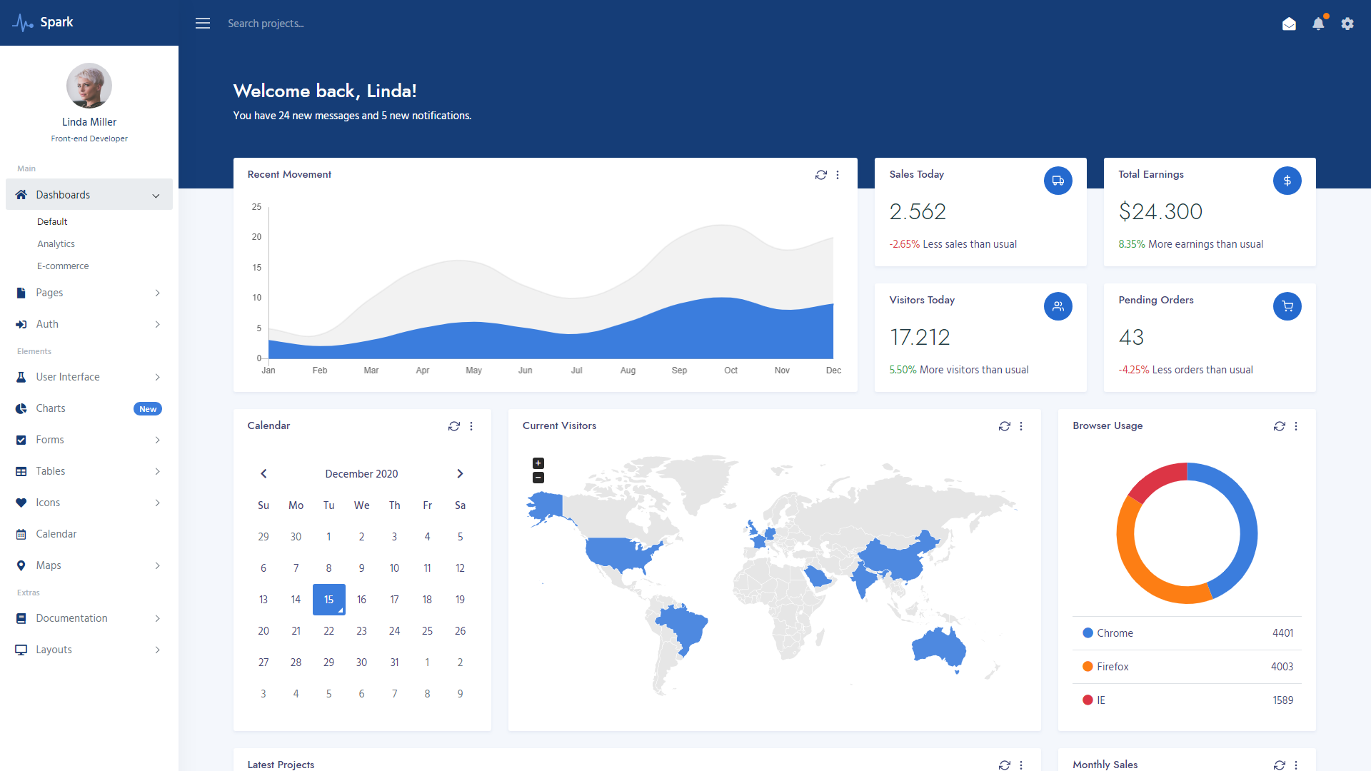 Spark Bootstrap 5 Admin Template
