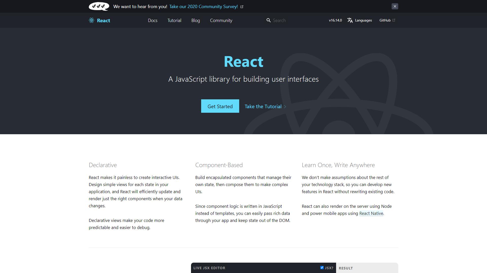 React Best Frontend Framework