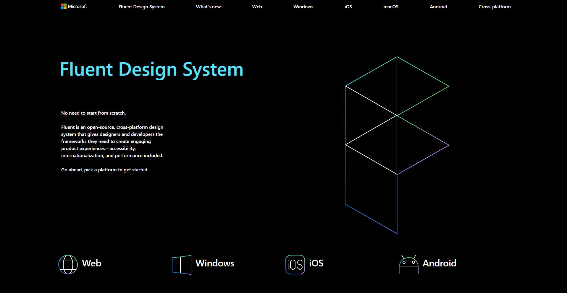 Fluent sketch design system