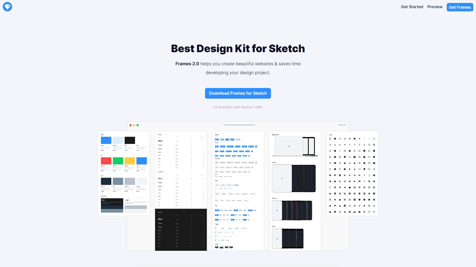 Frames free sketch design system