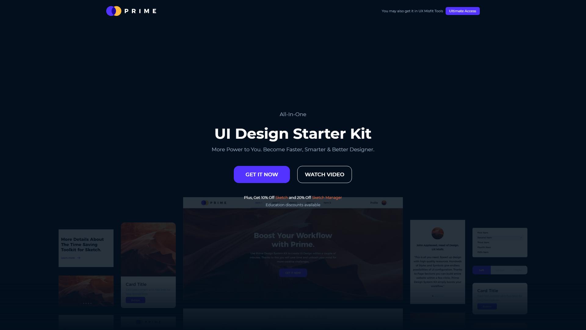 Prime sketch design system
