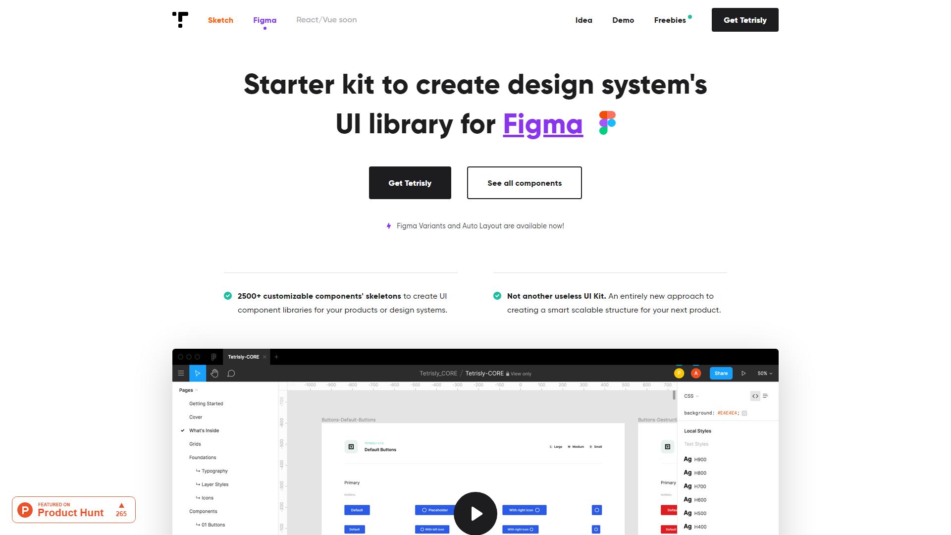 Tetris Figma design system