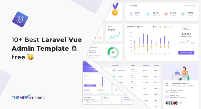 Laravel vue admin template free