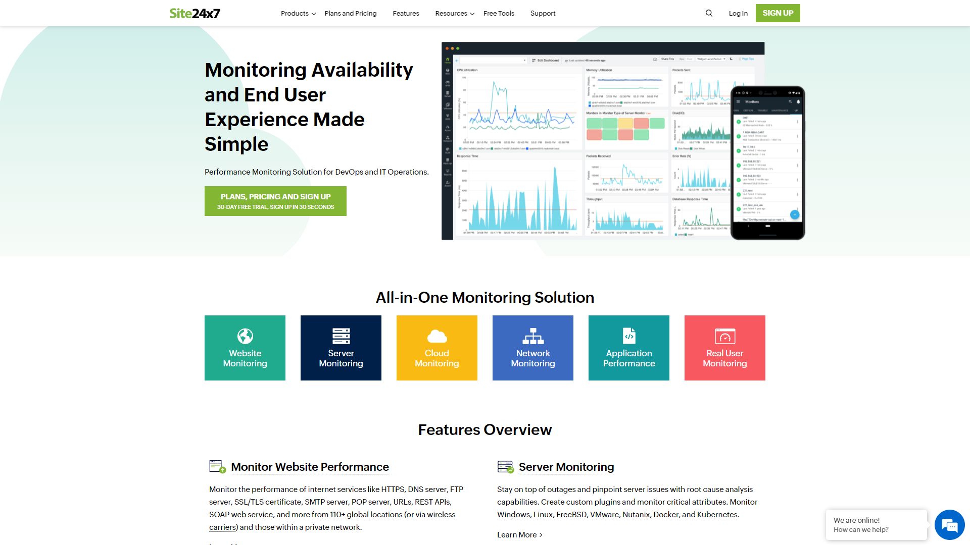 Site24x7 Frontend Monitoring Tools