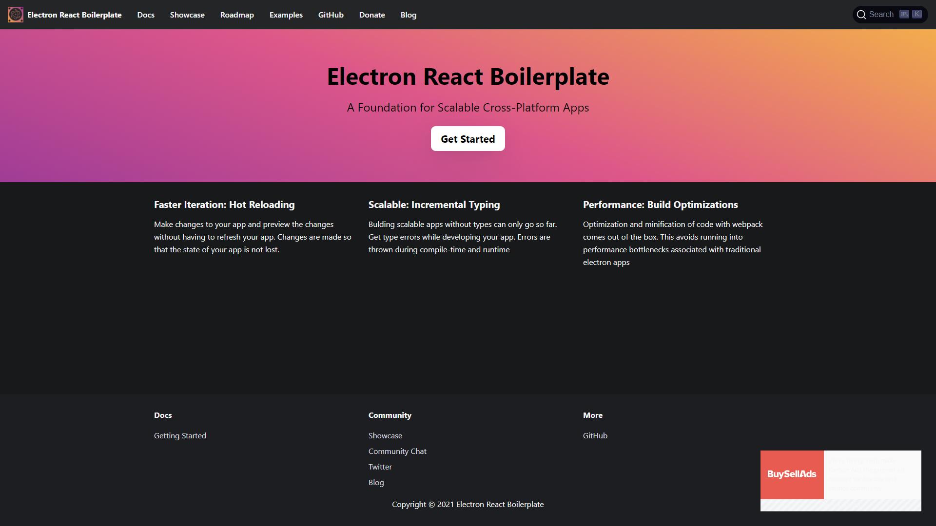Electron React bolilerplate