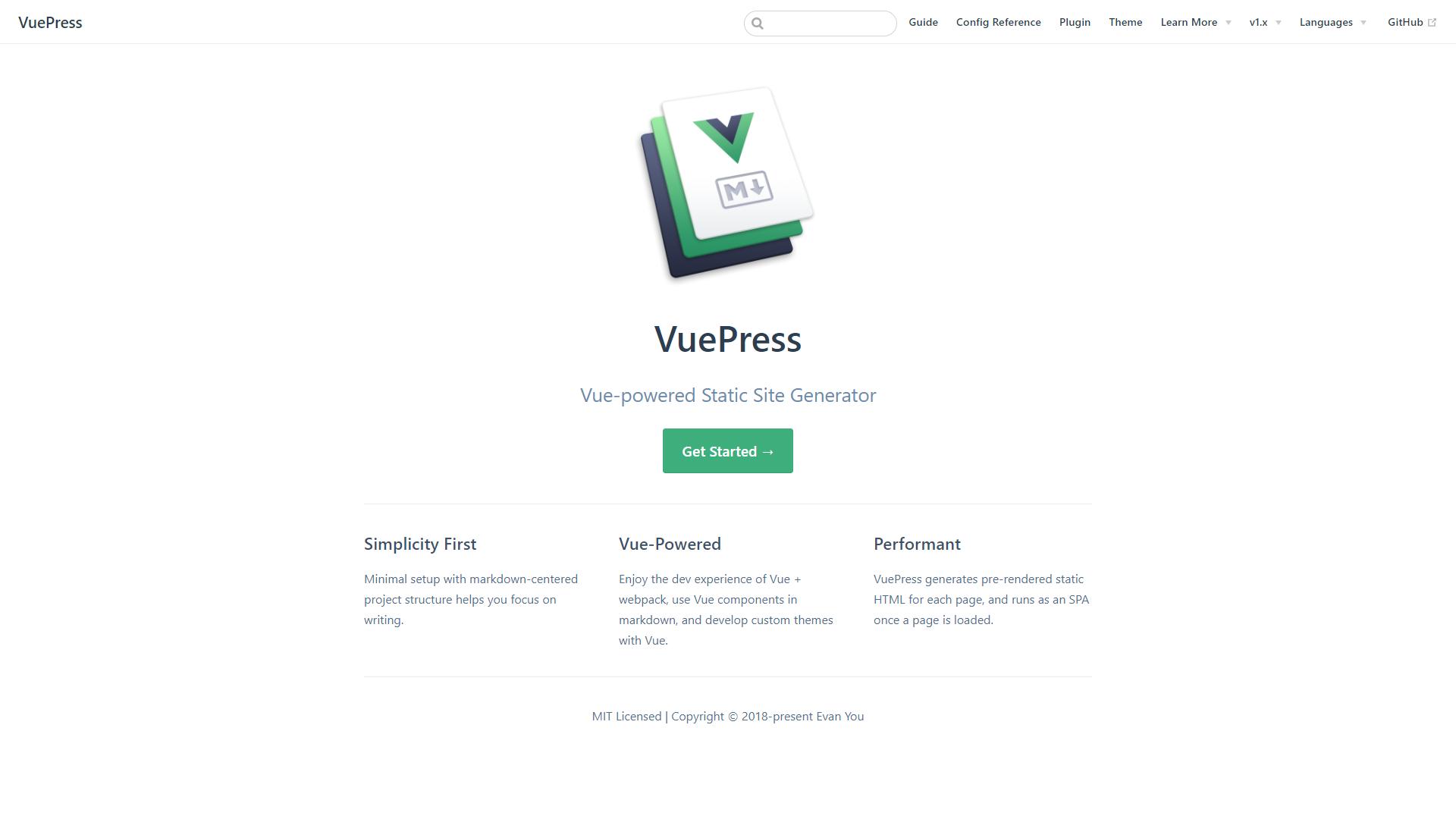 Vuepress vuejs project