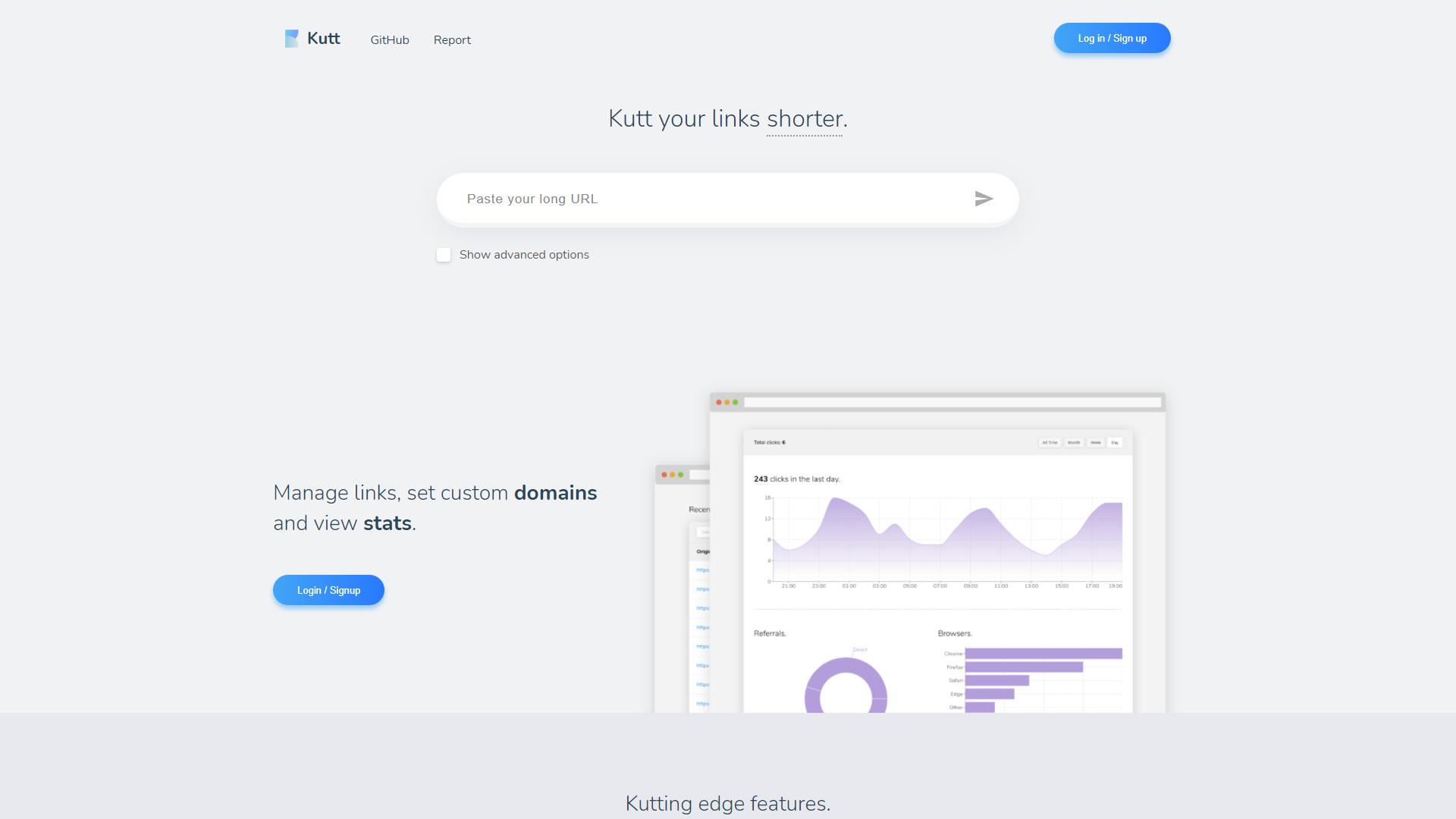 kutt opensource react projects