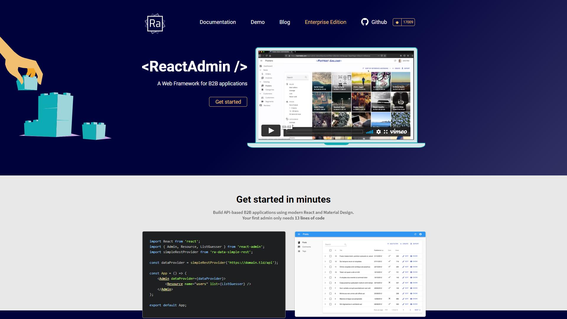 react admin kit