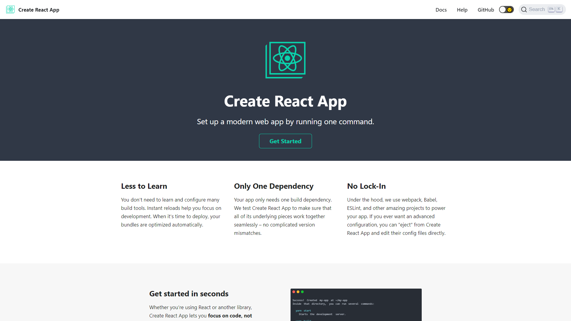 create react app react developer tools