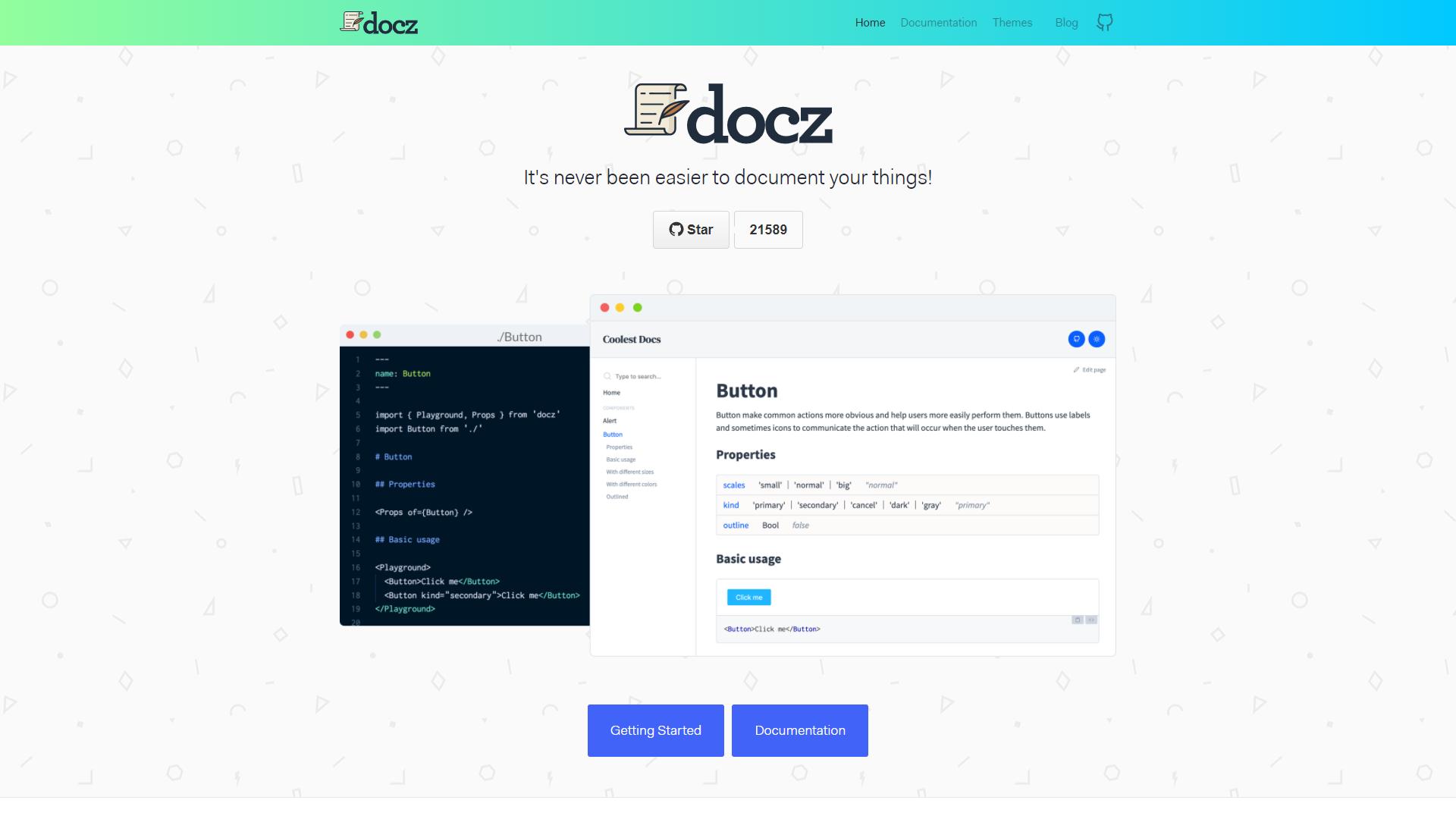 docz react developer tools