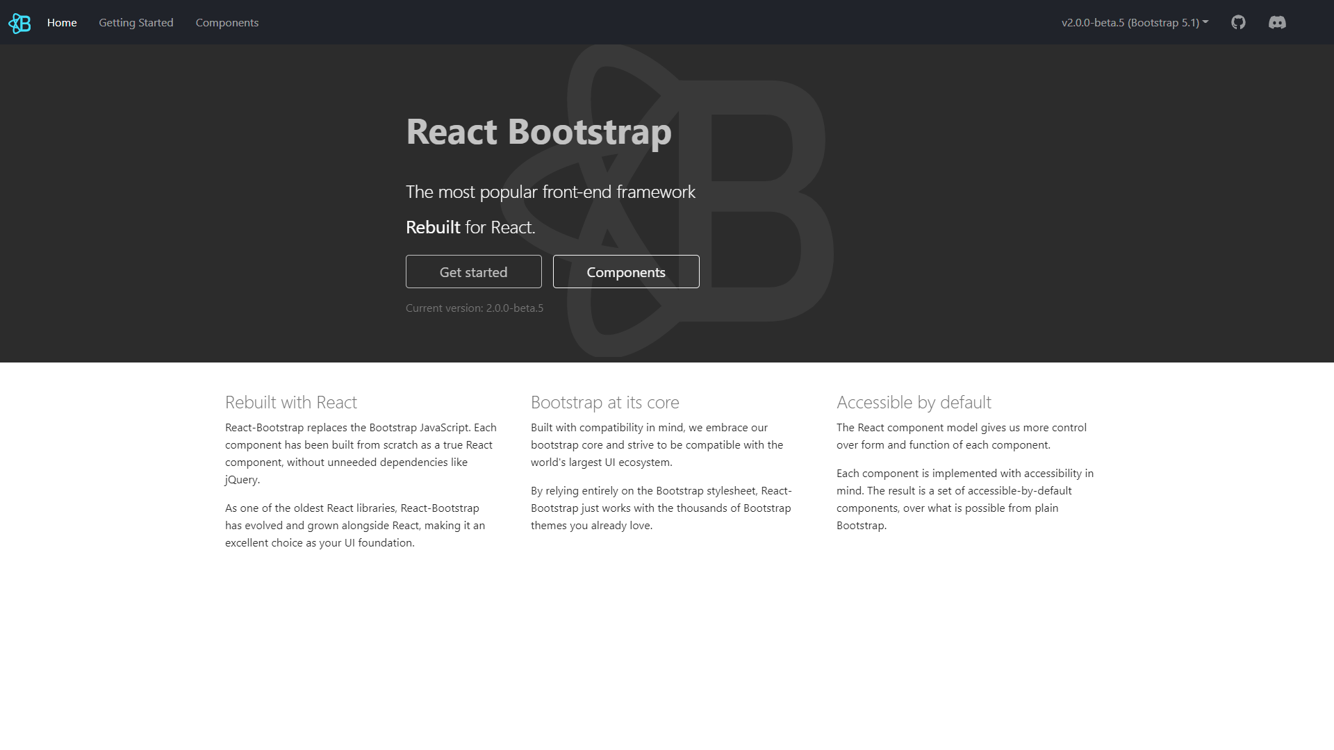 react bootstrap