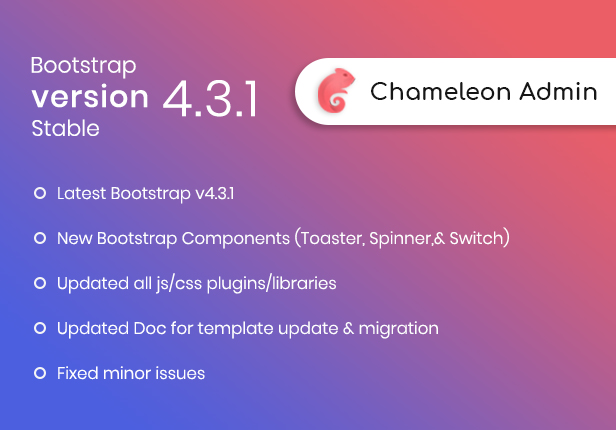 Chameleon Admin - contemporary Bootstrap 4 WebApp & Dashboard HTML Template + UI Kit