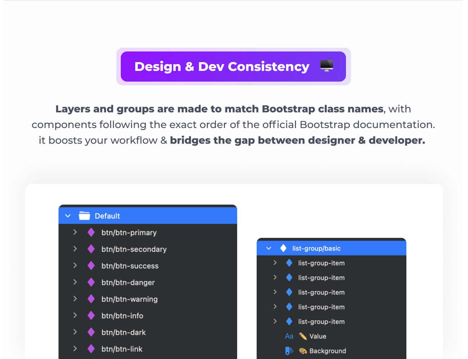 Design & Dev Consistency