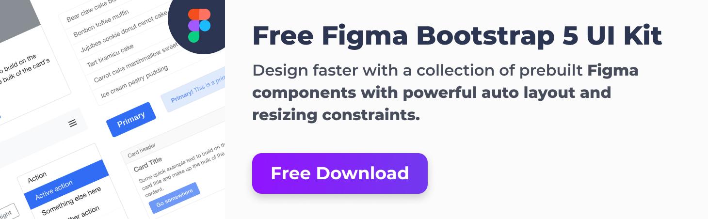Free Figma Bootstrap 5 UI Kit